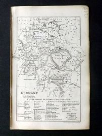 Cornwell & Dower 1849 Antique Map. Germany